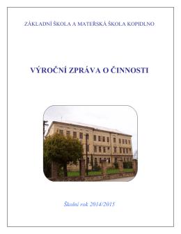 Výroční zprávu 14-15 - Základní Škola Kopidlno
