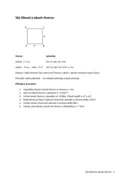 5b) Obvod a obsah čtverce