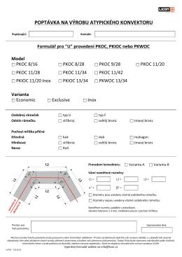 Formulář pro atypickou výrobu podlahových