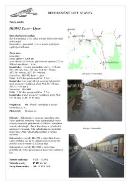 Referenční list stavby - III/4992 Tasov