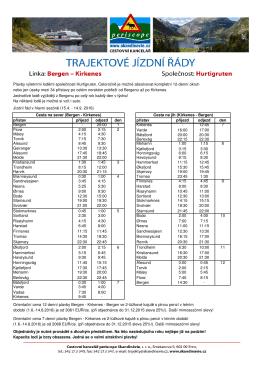 Jízdní řád v hlavní sezóně (15.4. - 14.9. 2016) přístav příjezd odjezd
