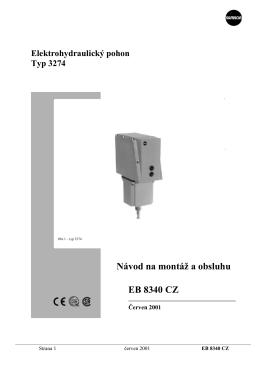 Elektropneumatický pohon typ 3274