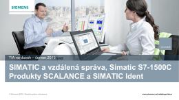 SIMATIC a vzdálená správa, Sinema Remote Connect