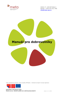 Manuál pro dobrovolníky