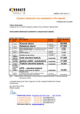 Cenové a dodací podmínky (CDP)