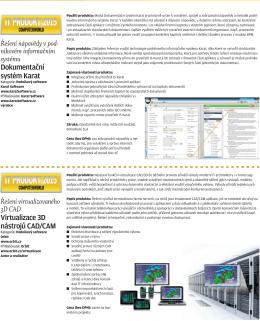 Řešení virtualizovaného 3D CAD Virtualizace 3D