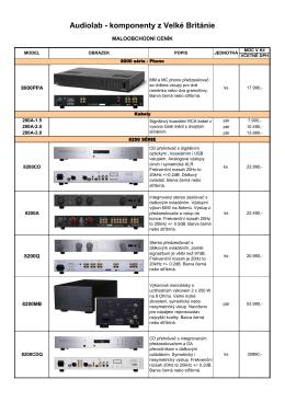 Audiolab - komponenty z Velké Británie - Hi