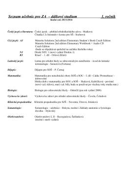 seznam učebnic ZA d