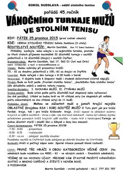 Vánoční turnaj Sudslava
