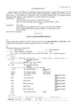 Nový čas dražebního jednání 993811