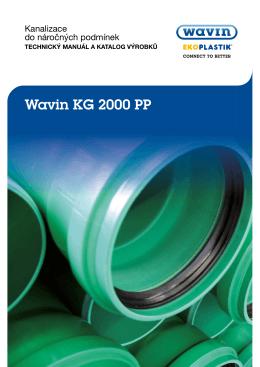 Wavin KG 2000 PP - katalog výrobků, technický