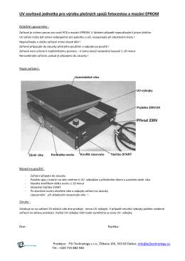UV osvitová jednotka pro výrobu plošných spojů fotocestou a