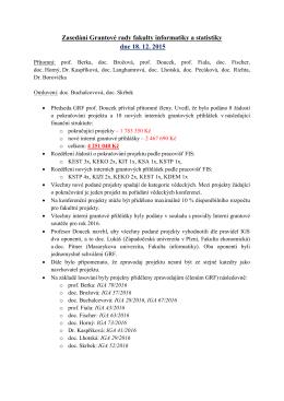 Zápis ze dne 18. 12. 2015 - Fakulta informatiky a statistiky