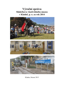 výroční zpráva muzea za rok 2014