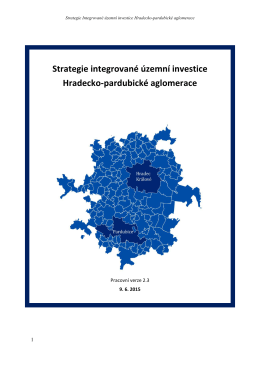 Strategie integrované územní investice Hradecko