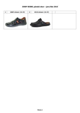 JOSEF SEIBEL pánská obuv – jaro/léto 2015