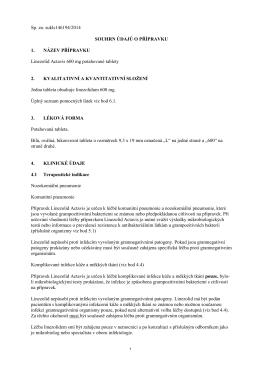 Sp. zn. sukls146194/2014 SOUHRN ÚDAJŮ O PŘÍPRAVKU 1