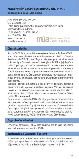 Masarykův ústav a Archiv AV ČR, v. v. i.