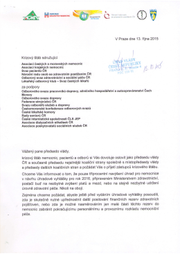Dopis předsedovi vlády