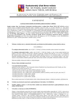 (1) - Exekutorský úřad Brno