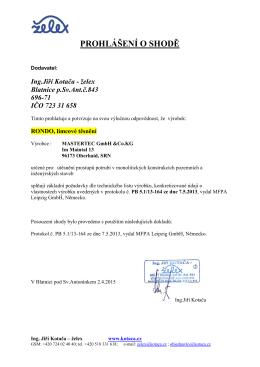 Prohlášení O SHODĚ Rondo 4_2015