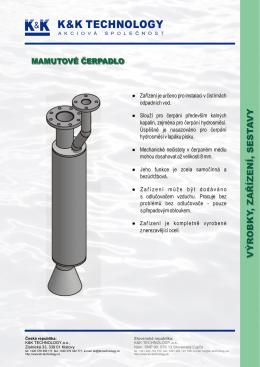 mamutové čerpadlo - K&K Technology as