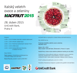 Italský veletrh ovoce a zeleniny