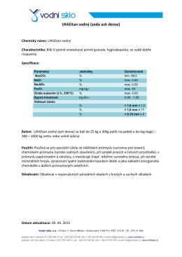Uhličitan sodný (soda ash dense)