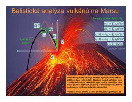 Balistická analýza vulkánů na Marsu