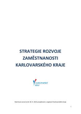 Strategie rozvoje zaměstnanosti Karlovarského kraje