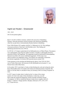 Ingrid van Houten – Groeneveld - Astronomische Gesellschaft eV