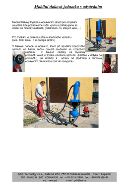 Mobilní tlakový tryskač s odsáv. - web