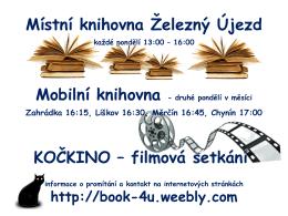 MOBILNÍ KNIHOVNICKÁ SLUŽBA - Místní knihovna Železný Újezd