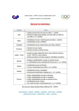 Střední škola – COPTH, Praha 9, Poděbradská 1/179 pořádá ve