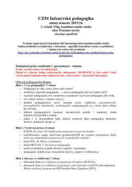 CZ54 Inženýrská pedagogika
