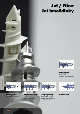 Speciální výrobky - Jet / Fiber, Jet hmoždinky