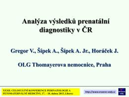 Edwardsův syndrom v České republice, 1994 - 2014