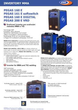 PEGAS 160__161_160 DIGITAL_200 E VRD prospekt