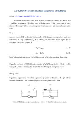 3.5 Ověření frekvenční závislosti kapacitance a induktance