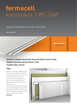Konstrukční list - 3WS3/AP - akustické zlepšení Ytong stěny