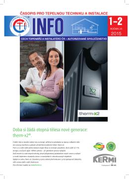 CTI INFO 1-2 / 2015 - Cech topenářů a instalatérů České republiky