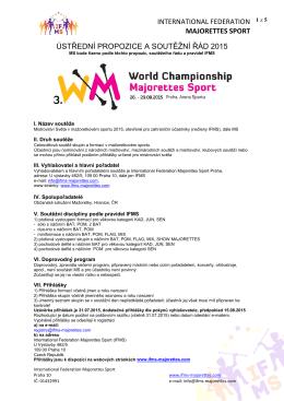 international federation majorettes sport ústřední propozice a