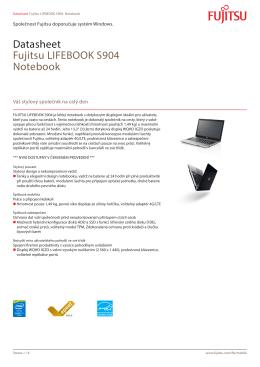Datasheet Fujitsu LIFEBOOK S904 Notebook