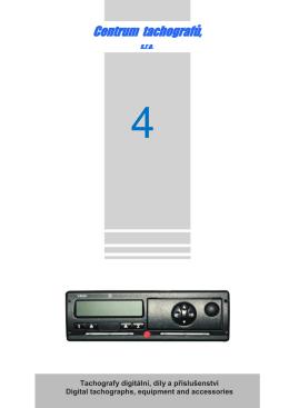 Tachografy digitální – díly a příslušenství