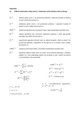 Appendix A) Odhad relativního rizika úmrtí / Estimation of the