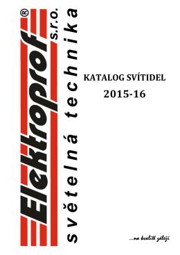 katalog 2015-16 - Elektroprof světelná technika sro