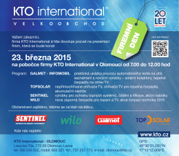 23. března 2015 - KTO International