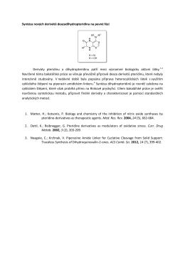 Syntéza nových derivátů deazadihydropteridinu na pevné fázi
