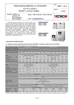 FM LS Starvert iC5-1F a iG5A-4