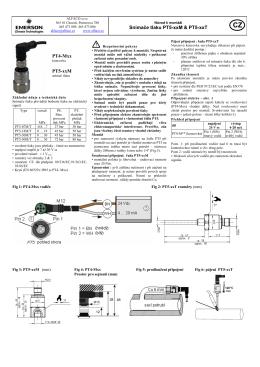 Snímače tlaku PT5-xxM & PT5-xxT PT4-Mxx PT5-xxM
